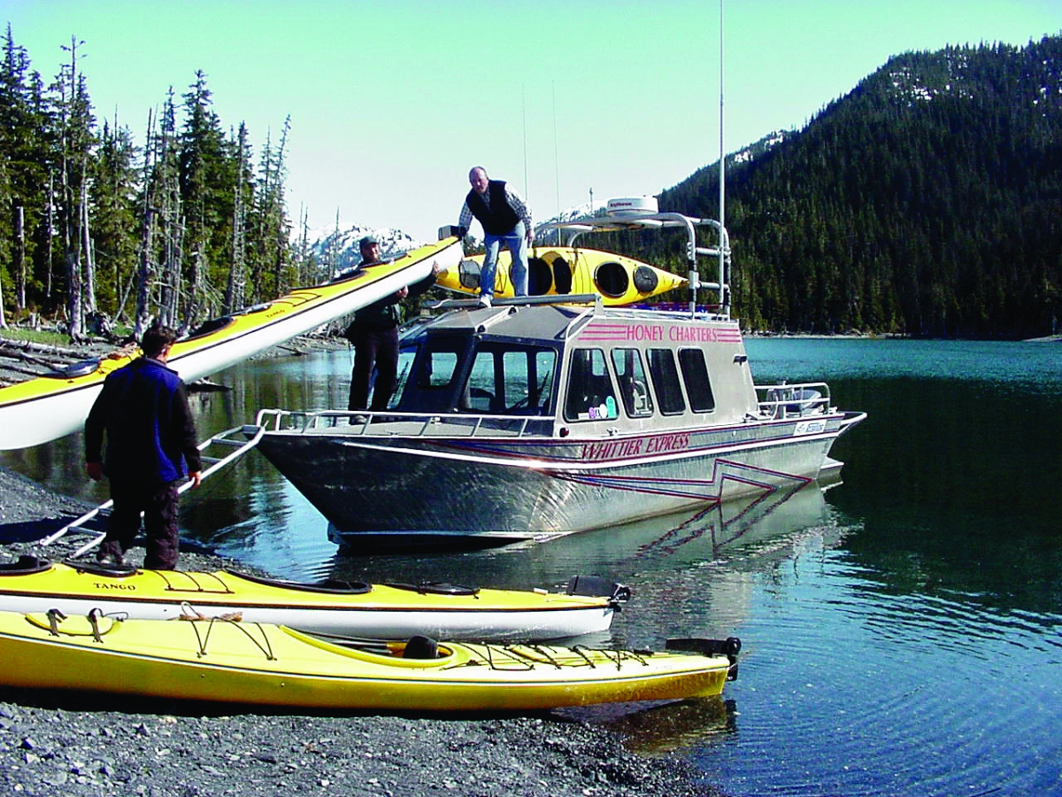 WhittierExpress up to 14 passengers for Water Taxi Travel in Prince William Sound